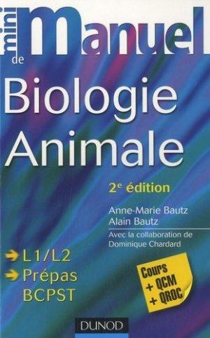 Mini manuel de biologie animale - dunod - 9782100544691