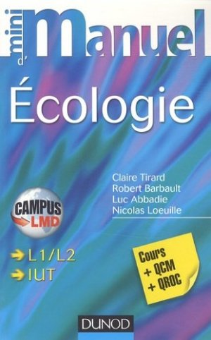 Mini manuel d'écologie - Dunod - 9782100578320 -