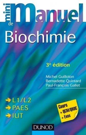 Mini Manuel de Biochimie - dunod - 9782100591985 -
