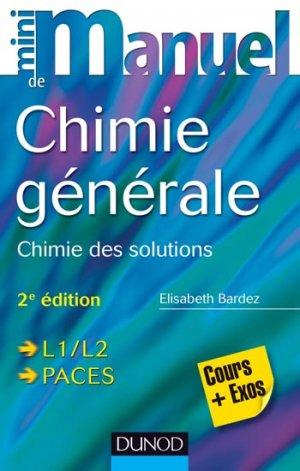 Mini Manuel de Chimie générale - dunod - 9782100710171 -