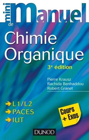Mini manuel de Chimie organique - dunod - 9782100724260