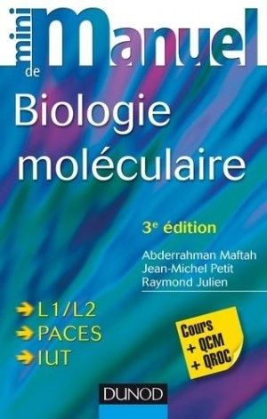 Mini Manuel de Biologie moléculaire - dunod - 9782100724833 -