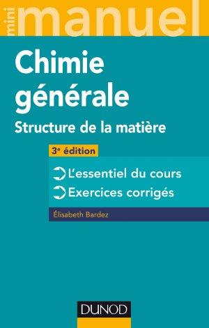Mini Manuel de Chimie générale - dunod - 9782100780938