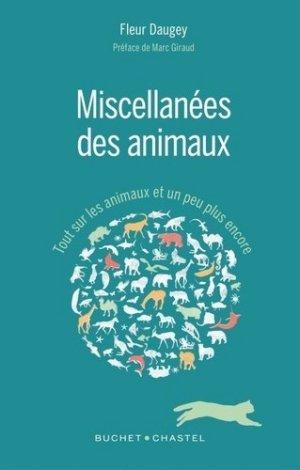 Miscellanées des animaux - buchet chastel - 9782283029770 - majbook ème édition, majbook 1ère édition, livre ecn major, livre ecn, fiche ecn