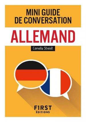 Mini guide de conversation allemand - first - 9782412041666 -