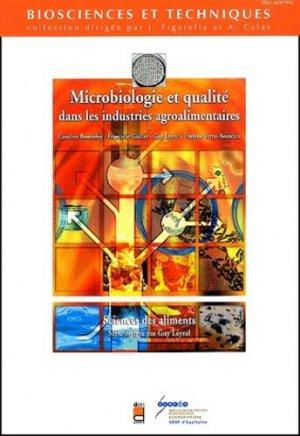 Microbiologie et qualité dans les industries agro-alimentaires - doin / crdp aquitaine - 9782704011193 -