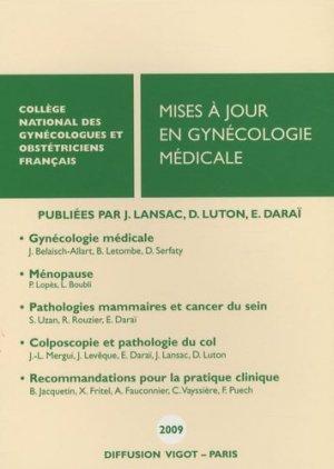 Mises à jour en gynécologie médicale 2009 - cngof - 9782711404087 -
