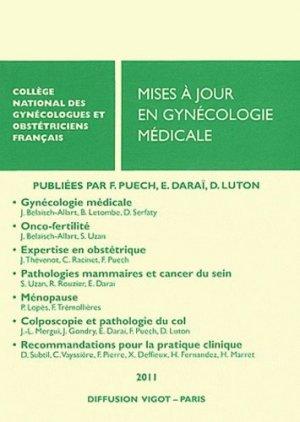 Mises à jour en gynécologie médicale 2011 - cngof - 9782711404179 -