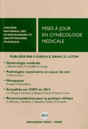 Mises à jour en gynécologie médicale 2012 - cngof - 9782711404223 -