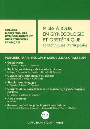 Mises à jour en gynécologie et obstétrique et techniques chirurgicales 2013 - cngof - 9782711404230 -