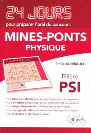 Mines-Ponts - Physique - Filière PSI - ellipses - 9782729872076 -