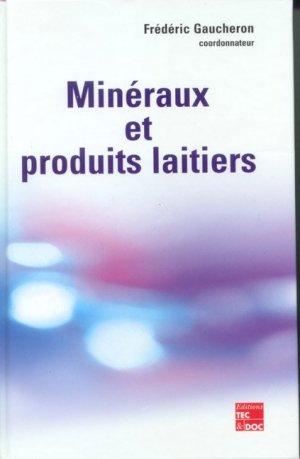 Minéraux et produits laitiers - lavoisier / tec et doc - 9782743006419 -