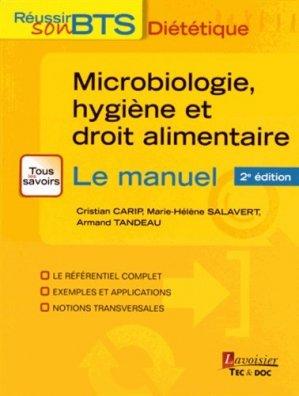 Microbiologie, hygiène et droit alimentaire - lavoisier / tec et doc - 9782743020118 -