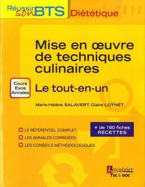 Mise en oeuvre des techniques culinaires - lavoisier / tec et doc - 9782743020637 -