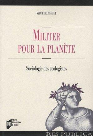 Militer pour la planète - presses universitaires de rennes - 9782753506480 -