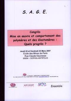 Mise en oeuvre et comportement des polymères et des élastomères : quels progrès ? - societe alpine de publications - 9782756202068 -