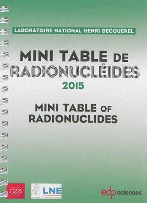 Mini-table de radionucléides - edp sciences - 9782759811861 -