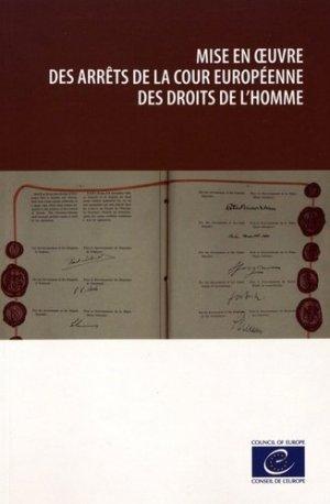 Mise en oeuvre des arrêts de la Cour européenne des droits de l'homme - Conseil de l'Europe - 9789287185105 -