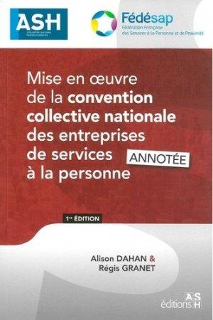 Mise en oeuvre de la convention collective nationale des entreprises de services - Actualités Sociales Hebdomadaires - 9791097313302 -