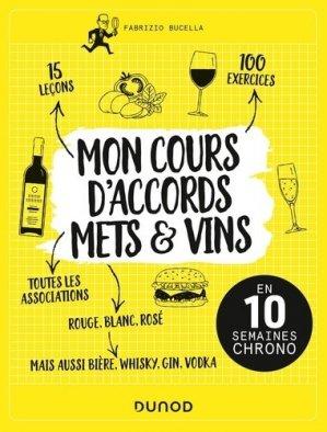 Mon cours d'accords mets et vins - dunod - 9782100783717