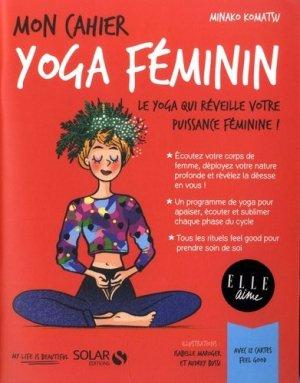 Mon cahier Yoga féminin - solar - 9782263161216 -