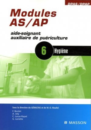 Modules AS / AP    6 : Hygiène - elsevier / masson - 9782294080609 -