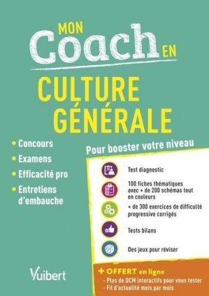 Mon coach en culture générale. Edition 2019-2020 - Vuibert - 9782311207583 -