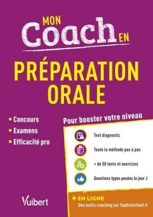 Mon coach en préparation orale - Vuibert - 9782311208603 -