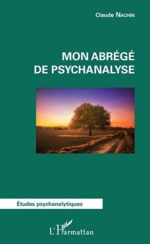 Mon abrégé de psychanalyse - l'harmattan - 9782343127866 -