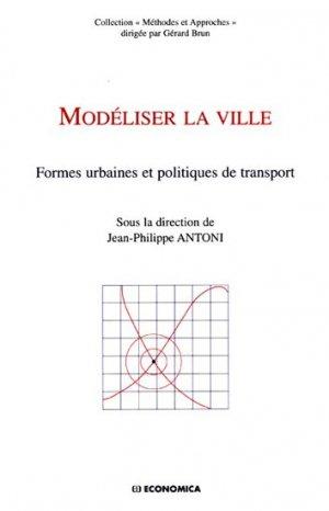 Modéliser la ville - economica anthropos - 9782717859713 -