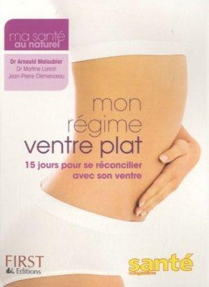 Mon régime ventre plat - Editions First - 9782754018777 -