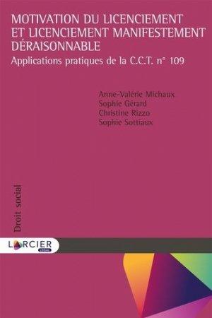 Motivation du licenciement et licenciement manifestement déraisonnable - Éditions Larcier - 9782807913189 -