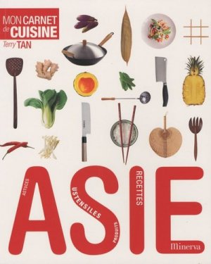 Mon carnet de cuisine Asie - Minerva - 9782830711554 -