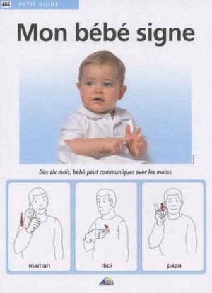 Mon bébé signe - aedis - 9782842599478 -