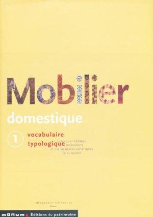 Mobilier domestique T1 - du patrimoine - 9782858224616 -