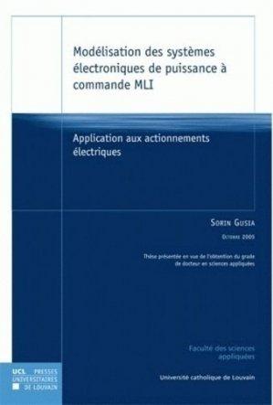 Modélisation des systèmes électroniques de puissance à commande MLI - presses universitaires de louvain - 9782930344973 -
