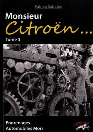 Monsieur Citroen tome 3 - antique autos - 9791096322084 -