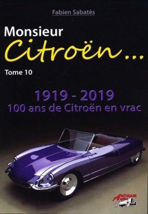 Monsieur Citroën - Tome 10 - antique autos - 9791096322152 -