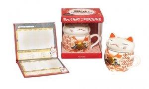 Mug chat de la fortune. Avec 1 mug et 1 carnet de compte japonais - Hachette - 9782013963350 -