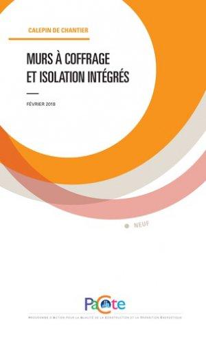 Murs à coffrage et isolation intégrés - sebtp - 9782359172294 -