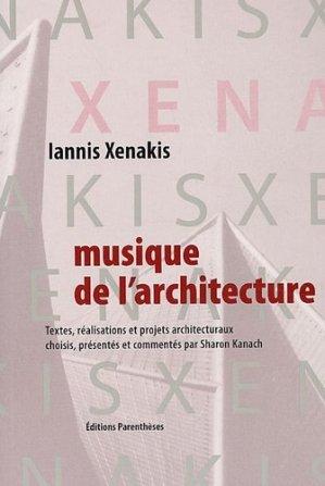 Musique de l'architecture - parentheses - 9782863641293 -