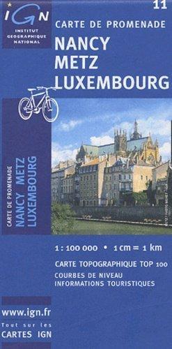 Nancy - Metz - Luxembourg - ign - 3282111001139 -