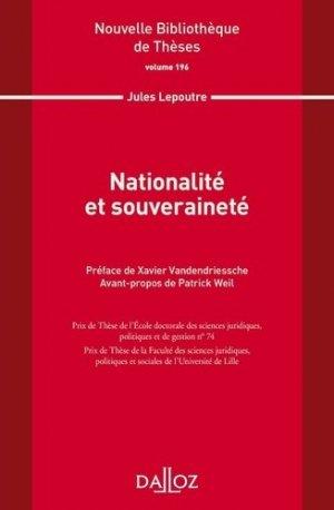 Nationalité et souveraineté - dalloz - 9782247198627 -