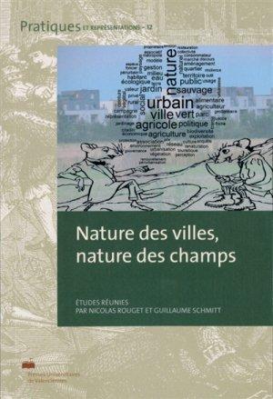 Nature des villes, nature des champs - presses universitaires de valenciennes - 9782364240551 -