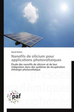 Nanofils de silicium pour applications photovoltaïques - presses académiques francophones - 9783838174471 -