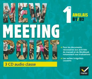 New Meeting Point Anglais 1re : 3 CD Audio-Classe - hatier - 9782218979941
