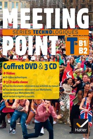 New Meeting Point Terminale Séries Technologiques : Coffret 3 CD Audio 1 DVD - hatier - 9782218999802