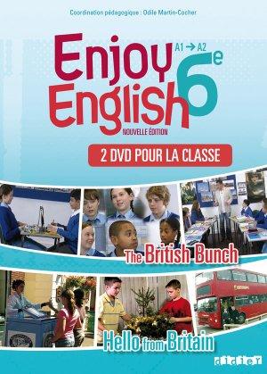New Enjoy English 6e : Coffret pour la Classe 2 DVD - Didier - 9782278071494 -