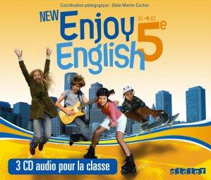 New Enjoy English 5e : Coffret pour la Classe 3 CD Audio - Didier - 9782278073238 -