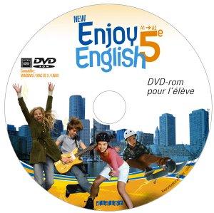 New Enjoy English 5e : DVD-rom pour l'Élève de Remplacement - Didier - 9782278073245 -